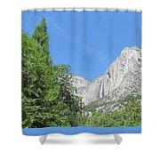 Yosemite Falls Again Shower Curtain