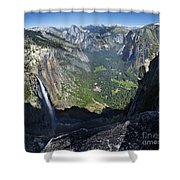 Yosemite Falls And Valley From Eagle Tower - Yosemite Shower Curtain