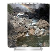 Yosemite Falls Rainbow Shower Curtain