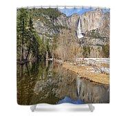 Yosemite Falls Reflection Shower Curtain