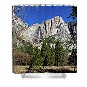 Yosemite Falls Through The Trees Shower Curtain