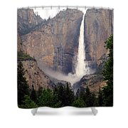 Yosemite Falls Vertical Shower Curtain