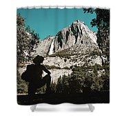 Yosemite Hiker Shower Curtain