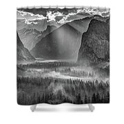Yosemite Morning Sun Rays Shower Curtain