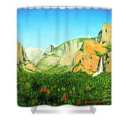 Yosemite National Park Shower Curtain by Jerome Stumphauzer