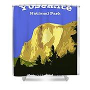Yosemite Poster Shower Curtain