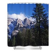 Yosemite Three Brothers In Winter Shower Curtain