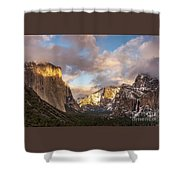 Yosemite Tunnel View Sunset In Winter Shower Curtain