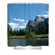 Yosemite Valley View X Shower Curtain