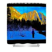 Yosemite Valley Winter Walk Shower Curtain