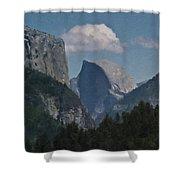 Yosemite View Of El Capitan And Half Dome Shower Curtain