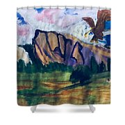 Yosemite Wildlife Shower Curtain