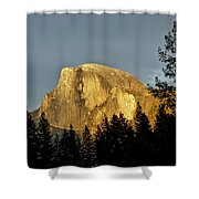 Yosemite's Half Dome At Sunset Shower Curtain