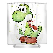 Yoshi Watercolor Shower Curtain