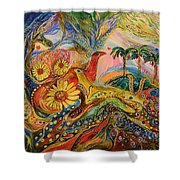 Yotvata Village Shower Curtain