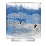 You And Me Babe Shower Curtain