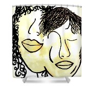 You And Me Sepia Tones Shower Curtain
