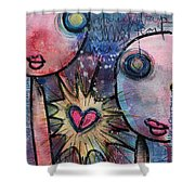 You Are Always In My Heart  Shower Curtain