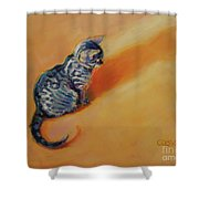 You Are My Sunshine Shower Curtain by Kimberly Santini