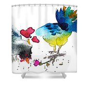 You Are My Sweet Heart Shower Curtain by Miki De Goodaboom
