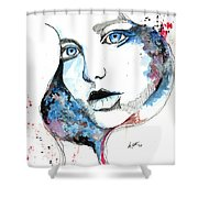 You Are My Universe Shower Curtain