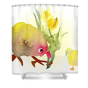 You Are The Cutest Thing Ever Shower Curtain by Miki De Goodaboom