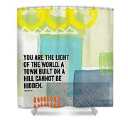 You Are The Light- Contemporary Christian Art By Linda Woods Shower Curtain