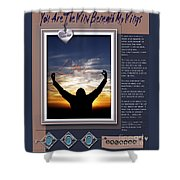 You Are The Wind Beneath My Wings Shower Curtain