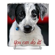 You Can Do It Shower Curtain by Amanda Barcon