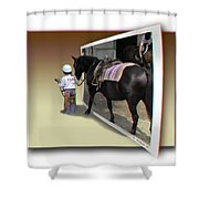 You Come With Me - Use Red-cyan 3d Glasses Shower Curtain