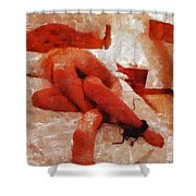 You Make Me Glow By Mary Bassett Shower Curtain