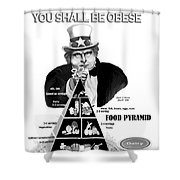 You Shall Be Obese By Fat Uncle Sam Shower Curtain