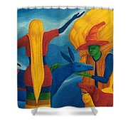 You Will Move On Your Way. Shower Curtain