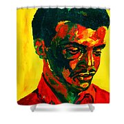 Young African Man Shower Curtain