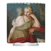 Young Archer Girl Shower Curtain