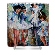 Young Ballerinas Shower Curtain