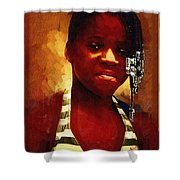 Young Black Female Teen 1 Shower Curtain