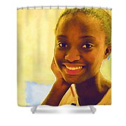 Young Black Female Teen 3 Shower Curtain