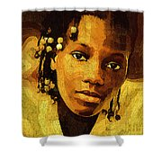 Dreadlocks And Beads Shower Curtain