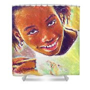 Young Black Female Teen 5 Shower Curtain