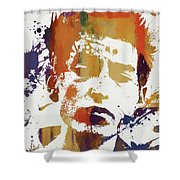 Young Bob Dylan Shower Curtain