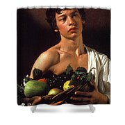 young boy Caravaggio Shower Curtain