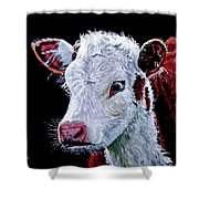 Young Bull Shower Curtain