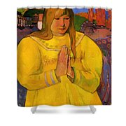 Young Christian Girl 1894 Shower Curtain