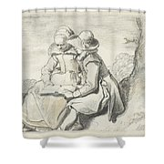 Young Couple Shower Curtain
