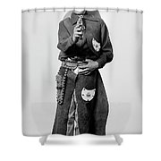 Young Cowboy Aims To Please Shower Curtain