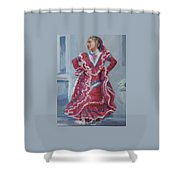 Young Dancer At Arneson Theater Shower Curtain