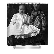 Young Ernest Lawrence And Brother, 1904 Shower Curtain