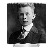 Young Ernest Lawrence Shower Curtain