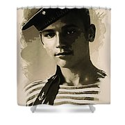 Young Faces From The Past Series By Adam Asar - Asar Studios, No 1 Shower Curtain